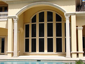 security screens on a home